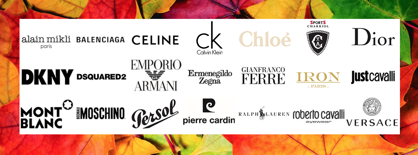 50 belangrijkste mode merken met brillen en brilmonturen